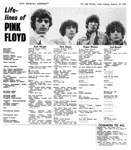 New Musical Express 19 August 1967