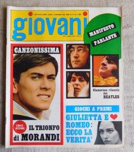 Итальянский журнал Giovani  №48 за 28 ноября 1968