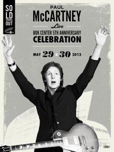 30 мая 2013 Пол Маккартни выступает с концертом на арене BOK Center, Tulsa, Oklahoma
