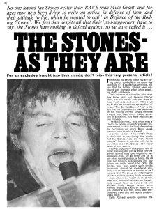 О Rolling Stones замолвим слово