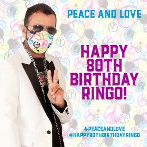 Через несколько минут начинается онлайн акция PEACE AND LOVE в 80-летия рождения РИНГО СТАРРА.