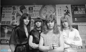 Sweet in Denmark, 1976 Backstage of the Fyens Forum
