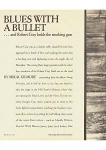 BLUES WITH A BULLET BY MIKAL GILMORE Rolling Stone #502 18.06.1987  40.