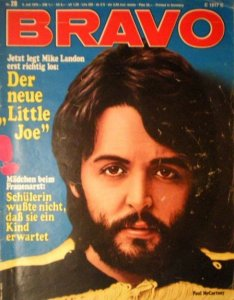 * Paul McCartney features on the cover of Bravo of 10 October 1970.