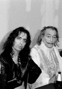 Alice Cooper & Salvador Dali. 1973 NYC