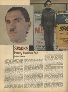 Sparks – Hit Parader, May 1976