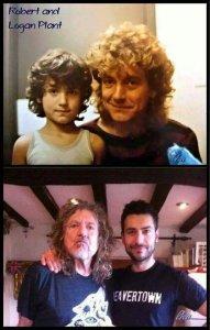Роберт Плант со своим сыном Логаном. Мини я...