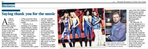 Музыка счёт любит... Или подсчёт.  The Times сегодня.