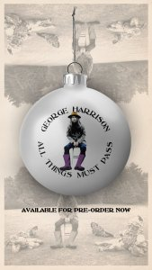 Announced on Twitter today: Celebrate the 50th anniversary of George Harrison's seminal album, 'All Things Must Pass', for the holidays with this commemorative ornament.