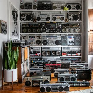Scott Campbell Has One of the Coolest Boombox Collections