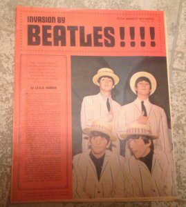 invasion By Beatles  Star Weekly (1964)