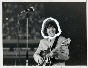 15 августа 1965 George on Stage Shea Stadium