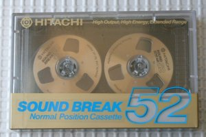Reel-to-reel compact cassette.