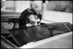 Paul outside Trident Studios, London, 1968. Photo by Linda McCartney