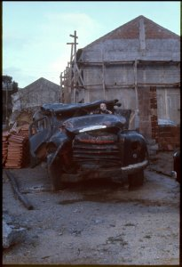 Wrecked Car. Portugal, 1969 #ThrowbackThursday #TBT