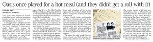 Они играли за еду...  The Times сегодня.