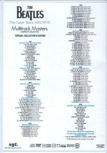 Список еще более интересен должен быть по сравнению с ранними записями, которые записывались как известно в концертном формате, без особых ухищрений