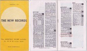 Также здесь представлен очень редкий выпуск The New Records за январь 1962 года, 24-страничный буклет, в котором перечислены все новые релизы пластинок, выпущенные в этом месяце в Великобритании, он использовался музыкальными магазинами в качестве руководства для заказа. На 13 странице, в конце перечня Polydor, находится то самое упоминание: