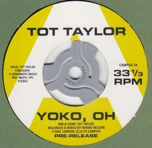 Tot Taylor – Yoko, Oh (released October 4, 2019) >https://www.youtube.com/watch?v=wKdjzMQA3rU