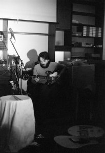 Paul during the recording of 'McCartney' in 1970.