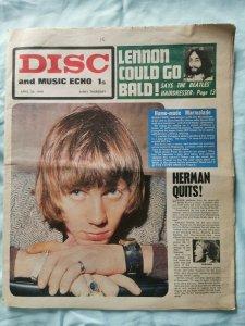 Disc and music Echo  26 апреля 1969