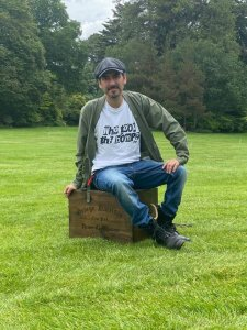 Multi functional, quite comfortable, victorian-esque, big wooden chest.