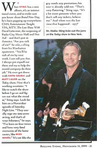Rolling Stone 11 November 1999