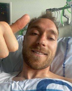 Полузащитник сборной Дании Кристиан Эриксен, у которого остановилось сердце прямо во время матча против Финляндии, обратился к болельщикам: