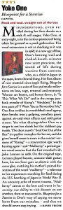 Rolling Stone 22 November 2001