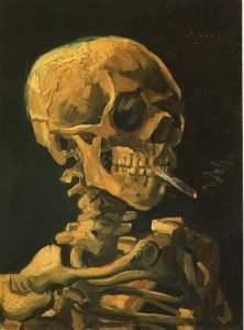 >чуть-чуть. одну сигаретку.вот. Приятного аппетита, от самого Ван-Гога. Вот.