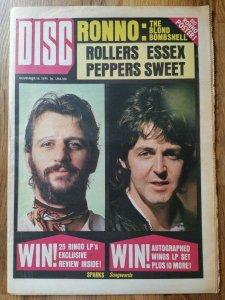 Disc  16 ноября 1974