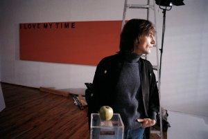 John Lennon, NYC, 1980.  Photograph by Allan Tannenbaum