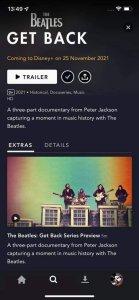 Скрин из приложения Disney Plus