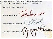 Beatles 'split letter' to be sold