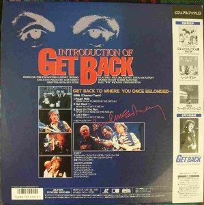 Оборот  4 трека, вошедшие в полный Get Back, но с несколько изменённым видеорядом.
