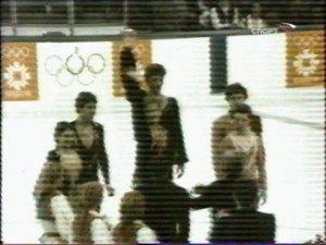 Пьедестал почета в Сараево-84. Триумф Питерской школы фигурного катания. Сразу двое воспитанников Игоря и Тамары Москвиных стали призерами олимпиады.