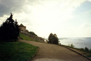 Вид на Чкаловскую лестницу: