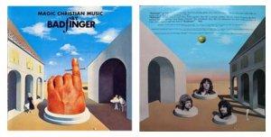 Одно дополнение - про оформление конверта пластинки «Magic Christian Music» (автор David King),  стилизованного под живопись (в 1971-м еще не так затертую модой) одновременно сюрреалистическую - Магритта (на то и Apple Records, это понятно – зеленое яблоко вообще, думаю, «взято» у бельгийца, а тут еще и фирменные облачка) и метафизическую - Де Кирико, тогда еще живого, не стоит много и говорить.