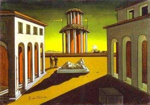 Судите сами по картинке: Giorgio de Chirico. Piazza d'Italia. 1913.