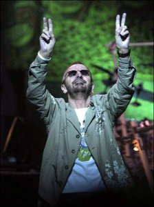 """Ringo Starr and His All-Starr Band open their Sunday night King Center show with """"It Don't Come Easy."""""""