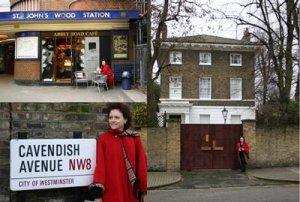 Cavendish Avenue. Дом №7. Если ездите на метро - выходите на St John's Wood Station.