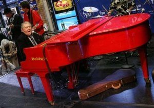 Rock-n-Roll legend Jerry Lee Lewis performs onstage Tuesday, Sept. 26, 2006, in New York. His new album Last Man Standing was released Tuesday.