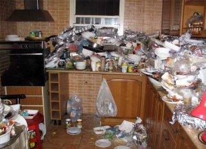 а это у моего приятеля на кухне после встречи Нового года...