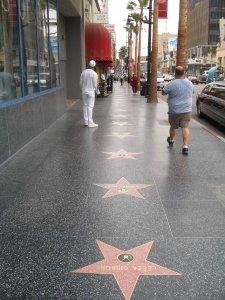 2Theodor: LA. Hollywood.  Star alley.