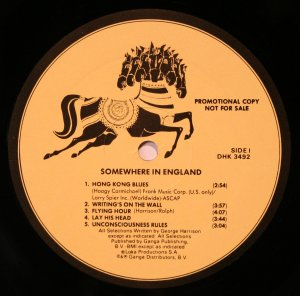 Первоначальный вариант альбома Джорджа Somewhere In England отвергнутый фирмой Warner Bros. которая владела лейблом Dark Horse.