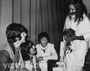 The Beatles and Maharishi Mahesh Yogi in Rishikesh (1968)