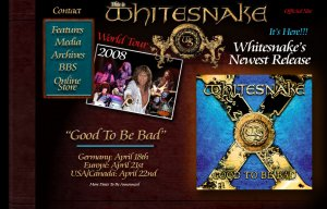 WHITESNAKE's new album, Good to be Bad, is due at the end of April in Europe via SPV/Steamhammer, the legendary hard rock band's first studio album in a decade features 11 new, slamming WHITESNAKE songs which are guaranteed to take their place alongside their multi-million selling catalog, according to a press release.