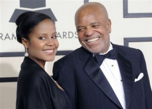 Berry Gordy, right, and his granddaughter, Autumn Jackson, arrive at the 50th Annual Grammy Awards on Sunday, Feb. 10, 2008, in Los Angeles.