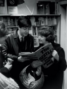 Paul and a fan at the North End Music Shop in Liverpool, England on February 19, 1963.