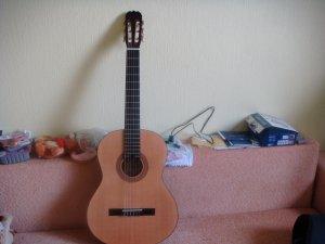 Это моя гитара.Это не стратокастер,но я ее люблю.